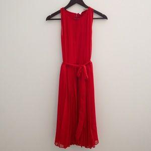 DVF Ria Pleated Dress